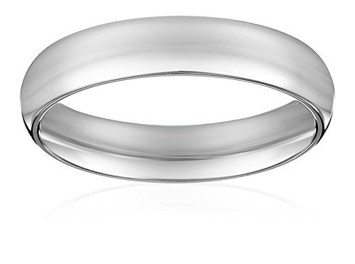 Platinum Comfort Fit Plain Wedding Band 4 Mm Size Curated
