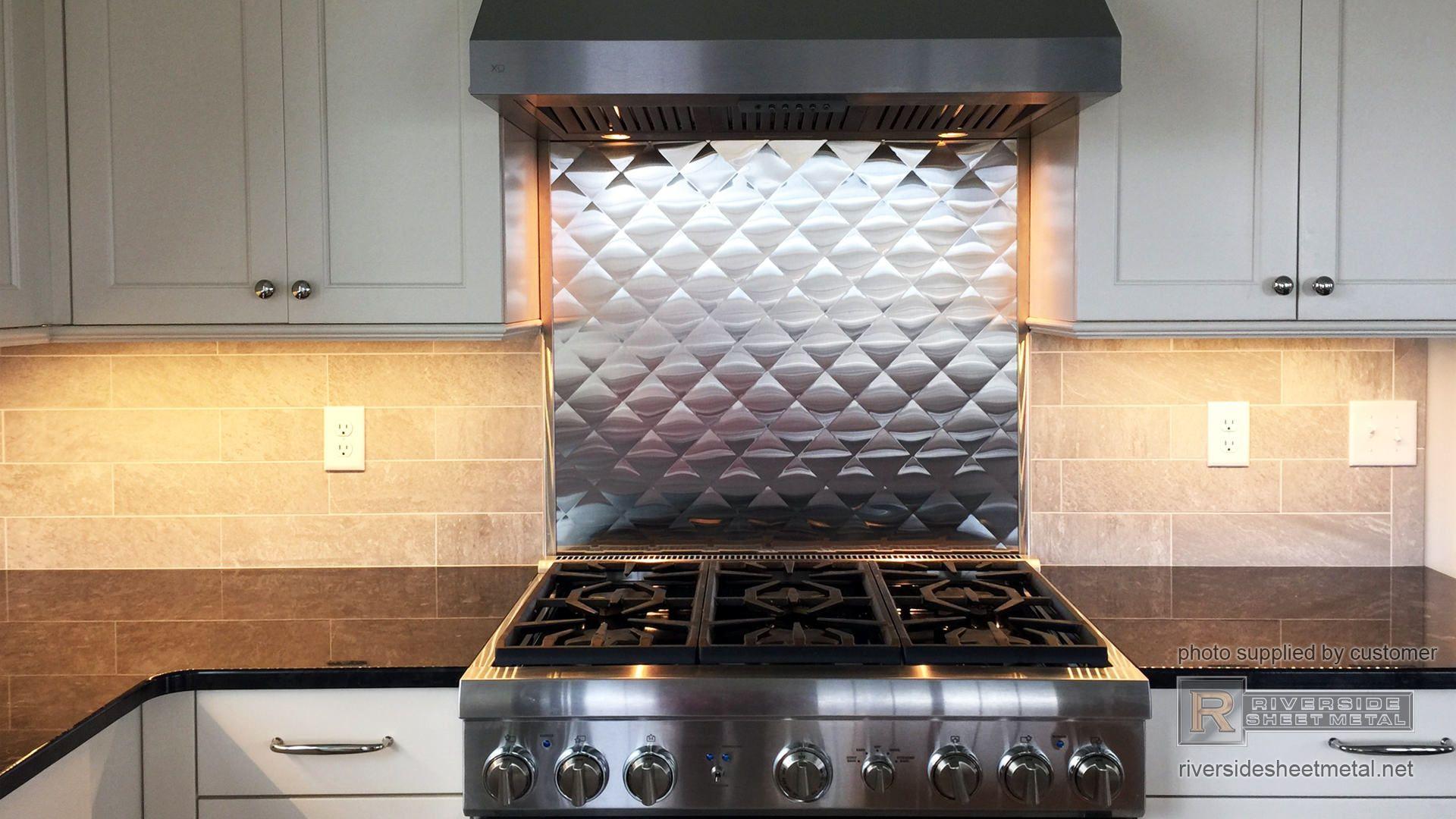Quilted Diamond Stainless Steel Back Splash Installation Steel