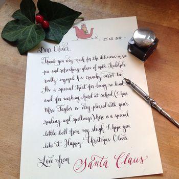 Personalised handwritten letter from santa christmas pinterest personalised handwritten letter from santa spiritdancerdesigns Gallery