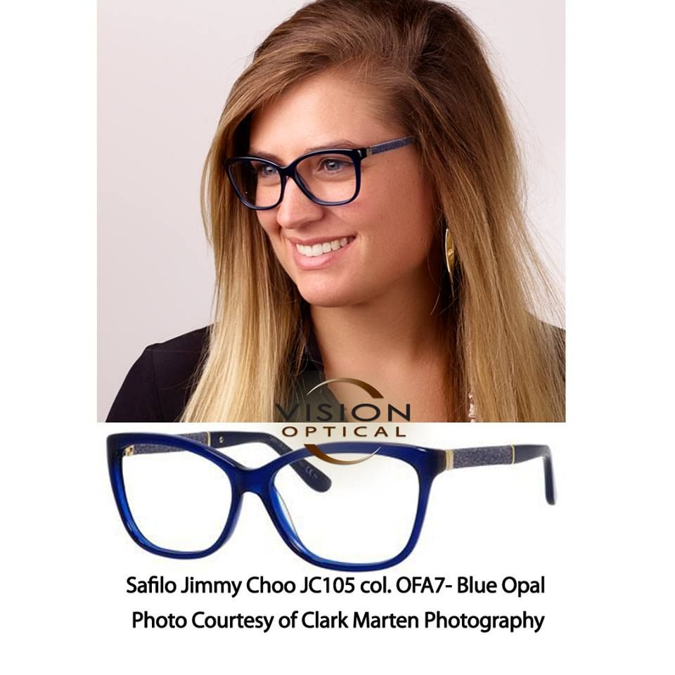 Safilo Jimmy Choo JC105 col. Blue Opal Photo Courtesy of Clark ...