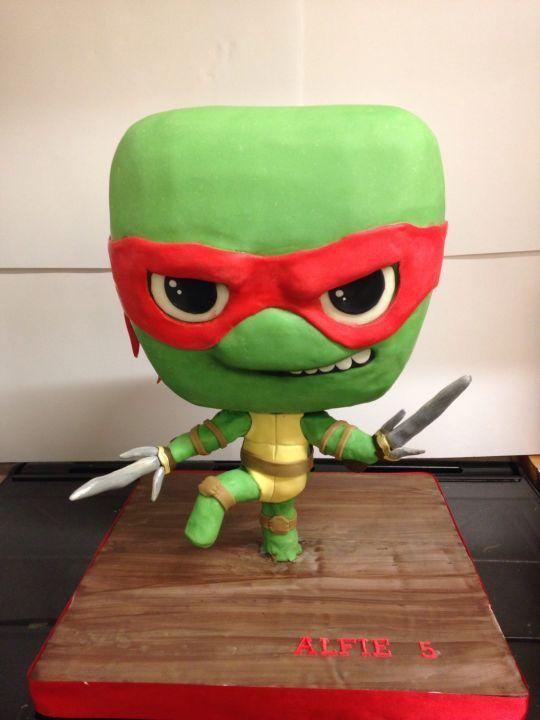Chibi teenage mutant ninja turtle Raphael Cakes Pinterest
