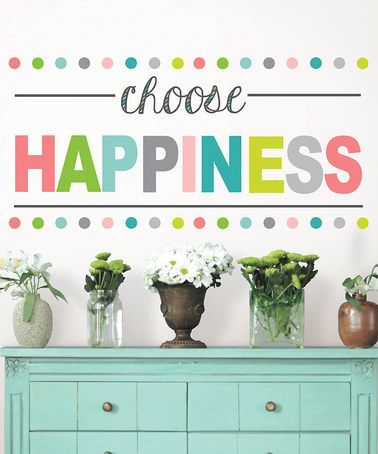 Another great find on #zulily! 'Choose Happiness' Decal #zulilyfinds