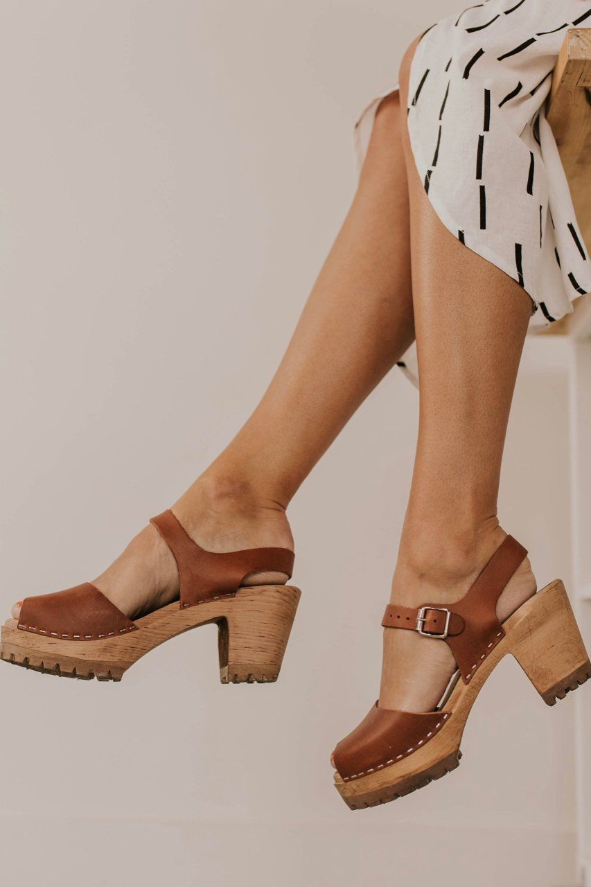 e416877333760 Spring 2019 Footwear. Cute and Comfy Clogs for Women. Tan Leather ...