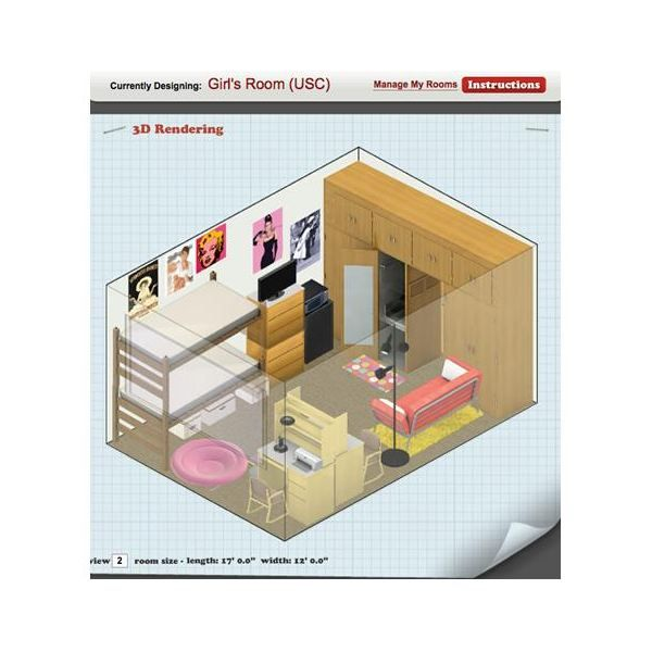 Pictures of dorm room layouts dorm room design and for Design your dorm room layout