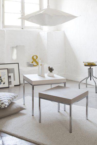 Peindre un meuble en bois avec du béton ciré facilement - peinture sur beton brut