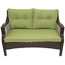 Image Of Stratford 3 Piece Outdoor Replacement Loveseat Cushion Set