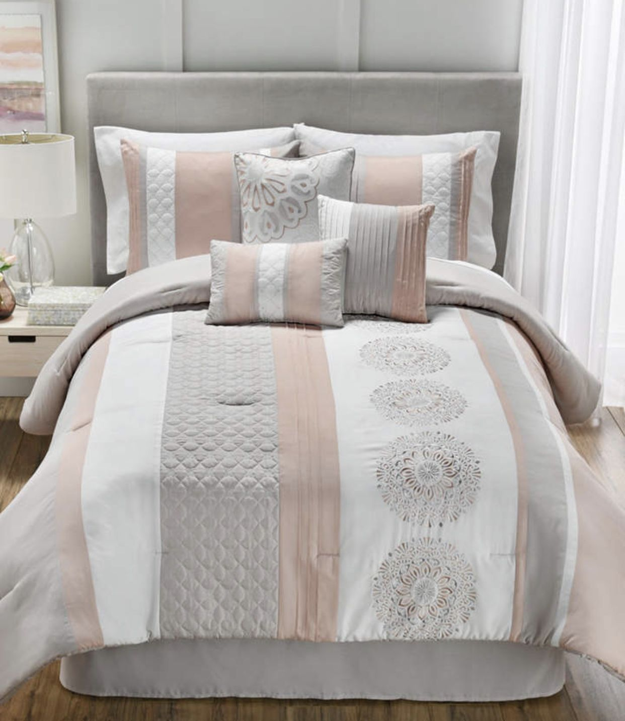 Blush Pink And Gray Bedroom Comforter Homedecor Interior Design Blush Decorate Decor Ideas Luxury Bedroom Design Luxurious Bedrooms Comforter Sets