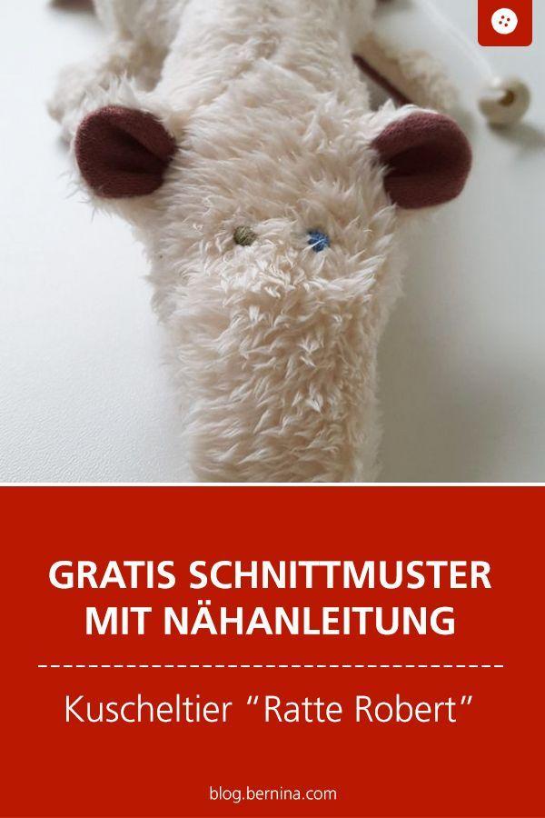 Gratis Schnittmuster & Anleitung zum Stofftier Ratti Robert #stuffedtoyspatterns