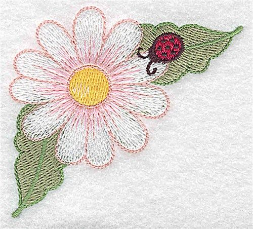 Bugs Embroidery Design Pink Daisy Ladybug From Adorable Ideas