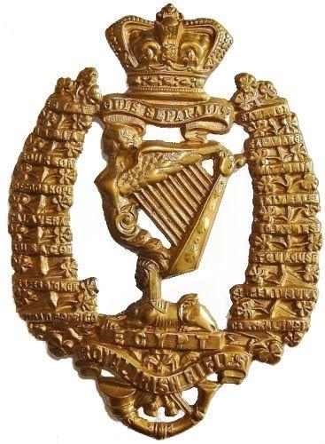 VICTORIAN ROYAL IRISH RIFLES HELMET PLATE BRASS METAL | eBay