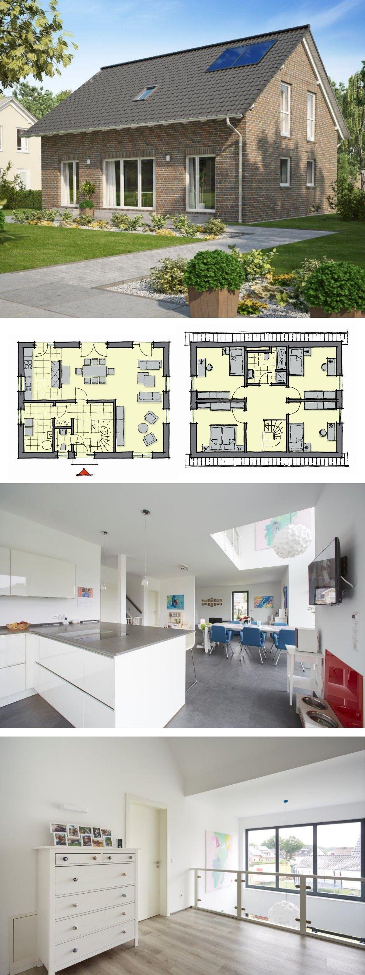Einfamilienhaus neubau klassisch mit klinker fassade for Architektur klassisch