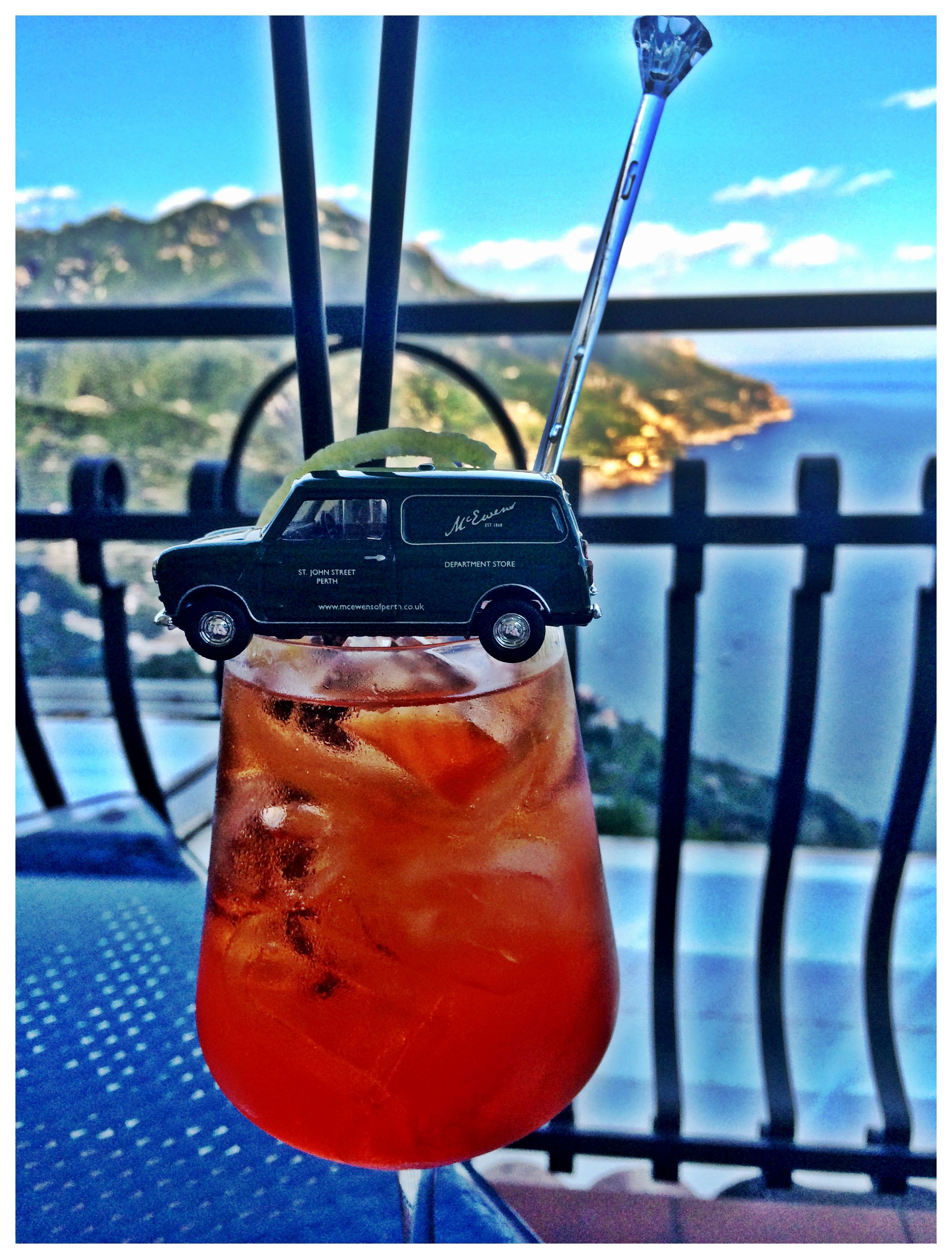 Cocktails on the Amalfi coast #WeeEwen #McEwens
