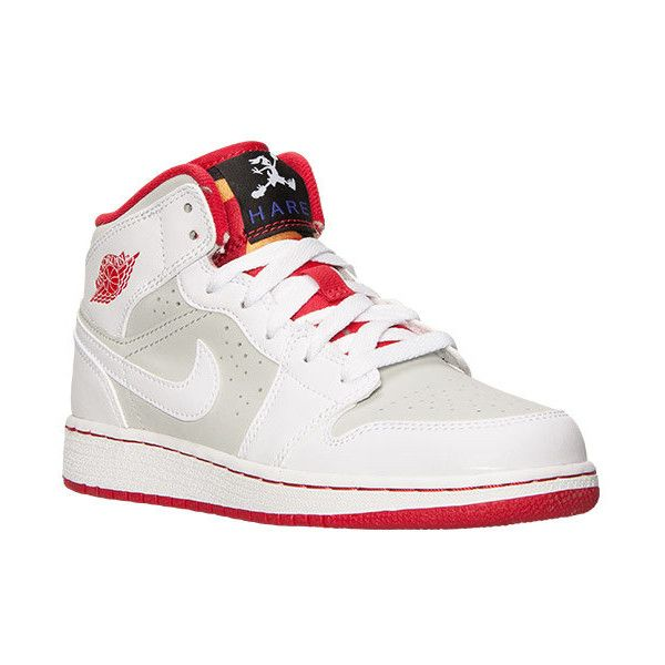 0f8dd2e0891917 Boys  Grade School Air Jordan 1 Mid WB Basketball Shoes ❤ liked on Polyvore  featuring shoes