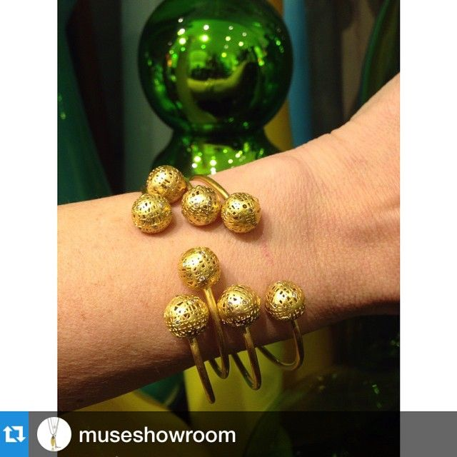 #Repost @museshowroom with @repostapp.・・・Gold and glass with @yossihararijewelry at @theendofhistory