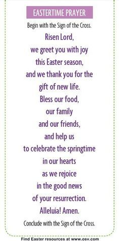 Catholic Easter Prayer Meal Yahoo Image Search Results
