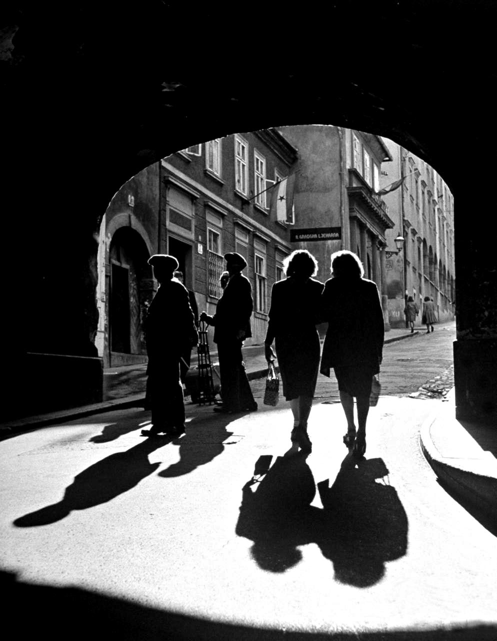 Walter Sanders People Walking Through A Dark Tunnel Zagreb Yugoslavia 1948 Photography Black And White Photographs Photo