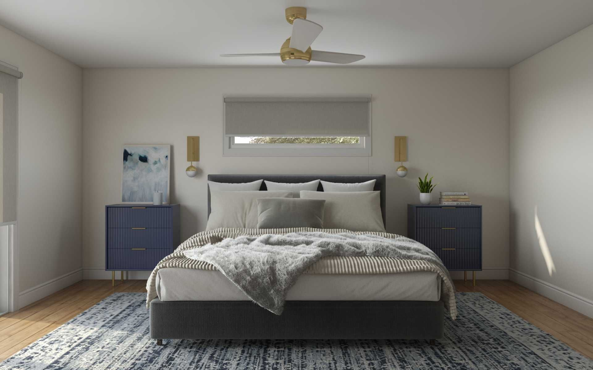 Modern Glam Midcentury Modern Scandinavian Bedroom Design By Havenly Interior Designer Shalene In 2021 Scandinavian Design Bedroom Interior Design Bedroom Design
