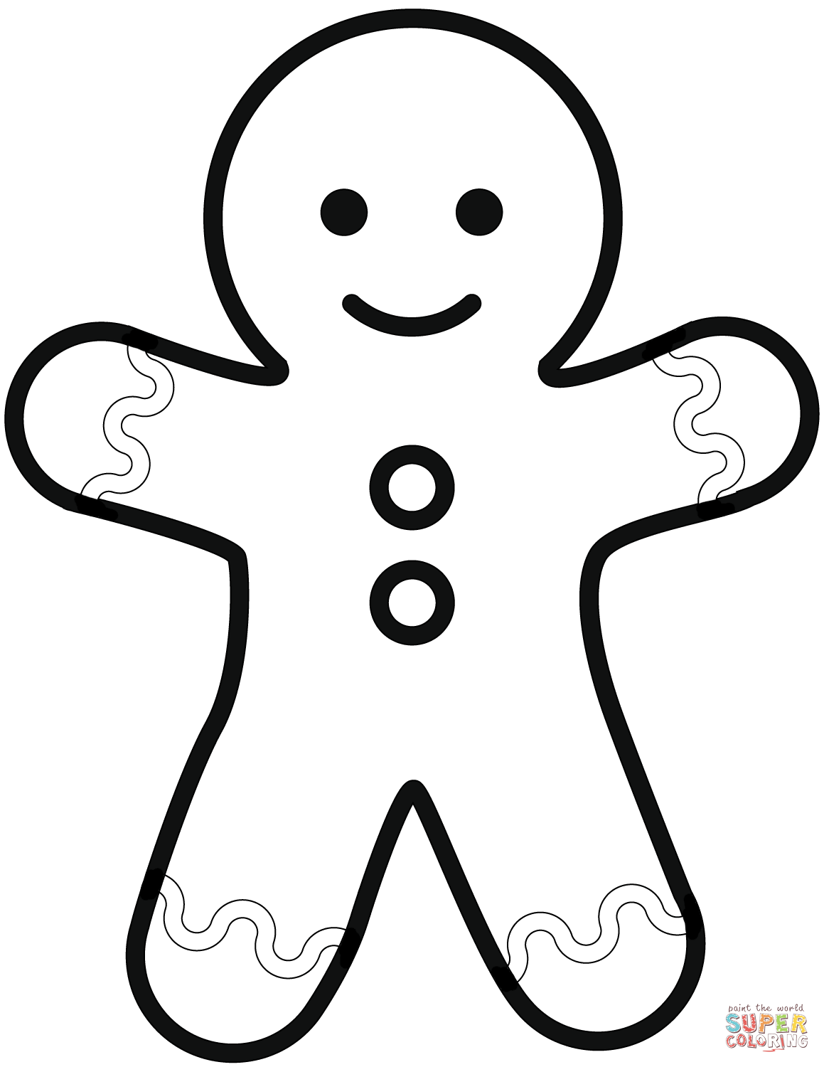 Simple Gingerbread Man Coloring Page Free Printable Coloring Pages Gingerbread Man Coloring Page Christmas Coloring Pages Christmas Ornament Coloring Page