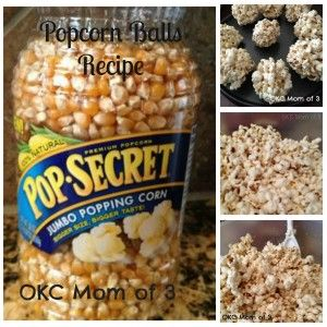 Popcorn Balls Recipe Collage