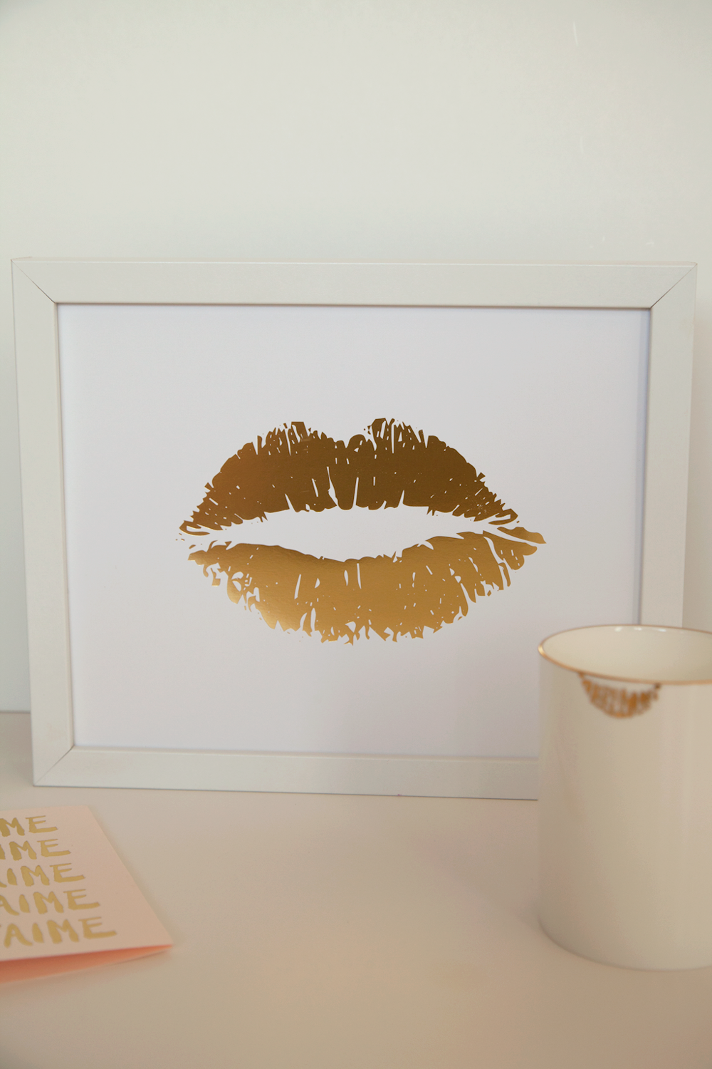 Lippy lippy gold foil lip print 8x10 home decor by tarynstmichele lippy lippy gold foil lip print home decor letterpress wall art valentines day gallery wall amipublicfo Gallery
