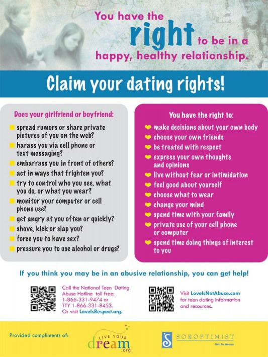 Teen Dating Violence Awareness Project for #teens #parents #schools  #relationship