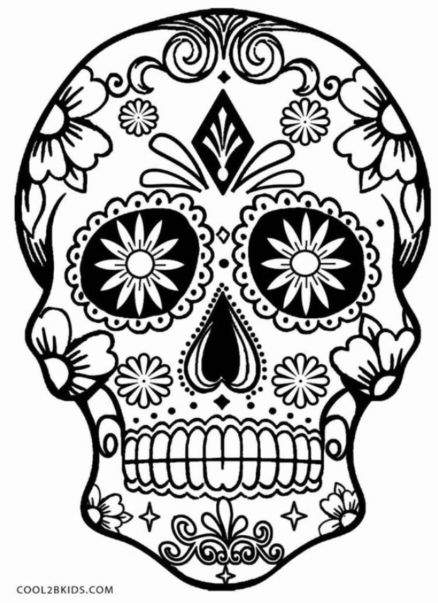 Creative Coloring In 2020 Skull Coloring Pages Halloween Coloring Halloween Coloring Pages