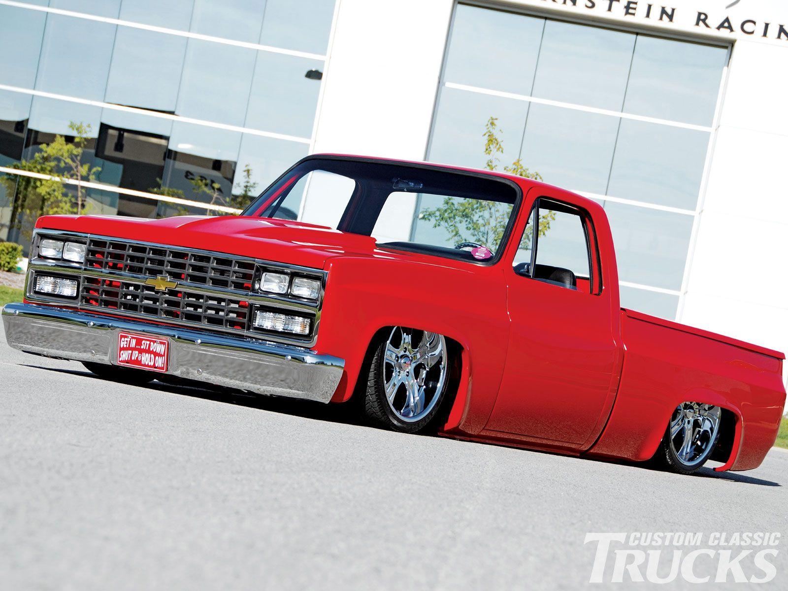 1985 chevy c10 pickup truck lowered truck photo 3