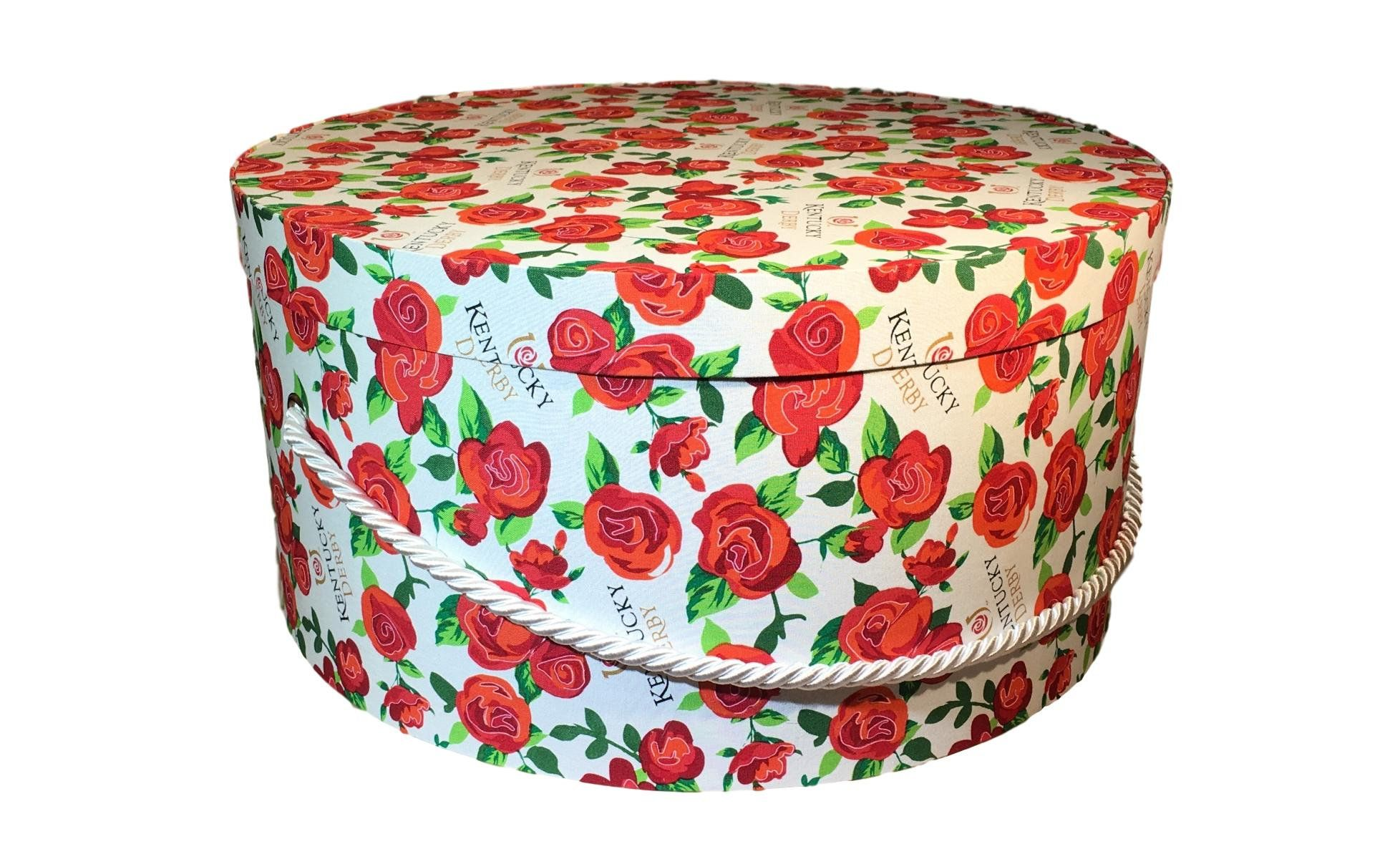 Large Hat Box In Kentucky Derby Roses Large Decorative Fabric Covered Hat Boxes Round Storage Box Keepsake Boxes With Lid N Fabric Decor Large Hats Hat Box