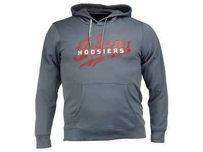 Indiana Hoosiers adidas ClimaWarm Gray Sideline Mens Hooded Sweatshirt