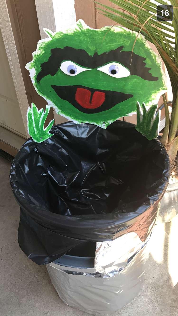 Oscar The Grouch Trash Can Diy Oscar The Grouch Canning