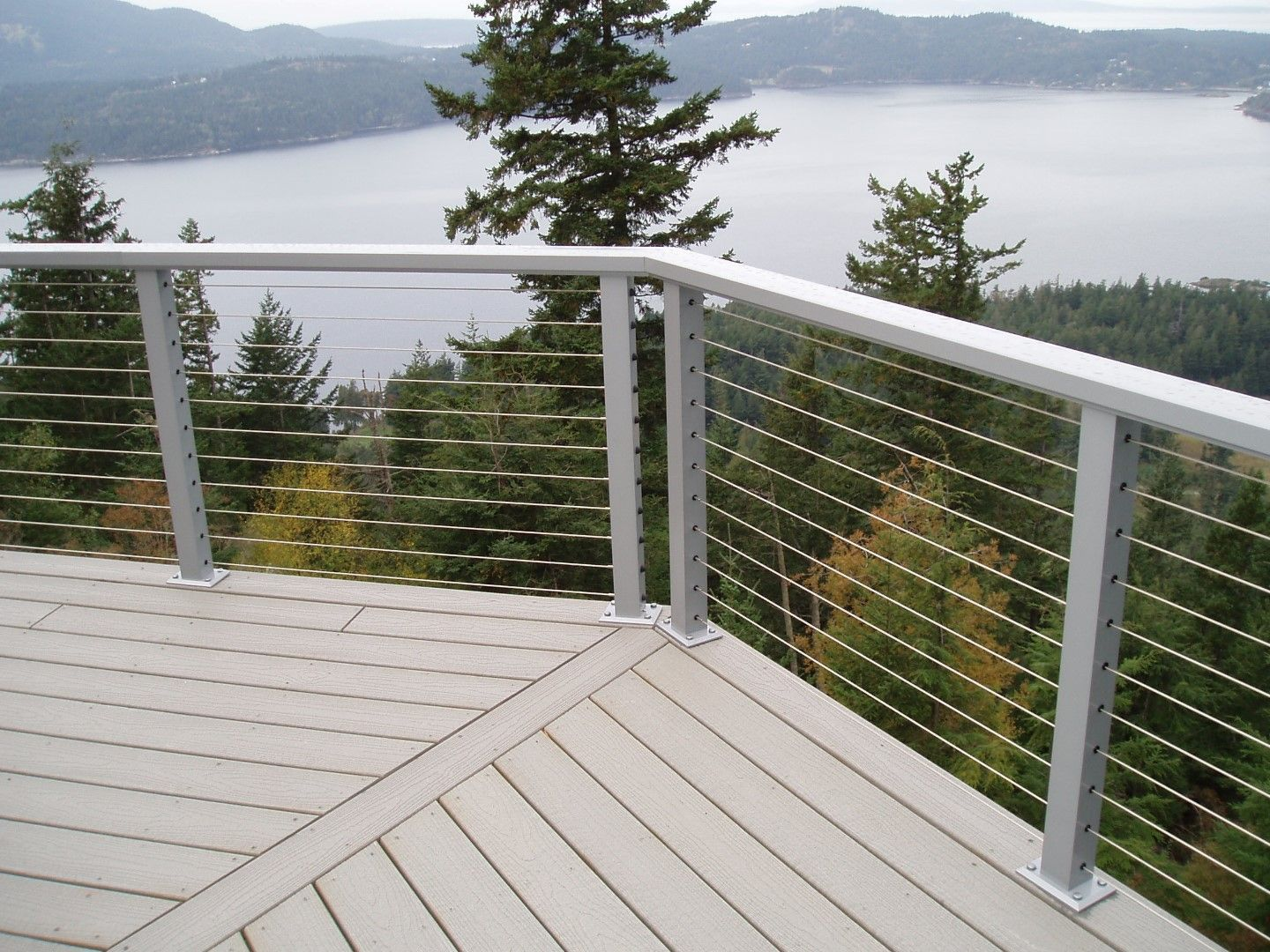 Stainless Steel Cable Railing Crystalite Inc Grey