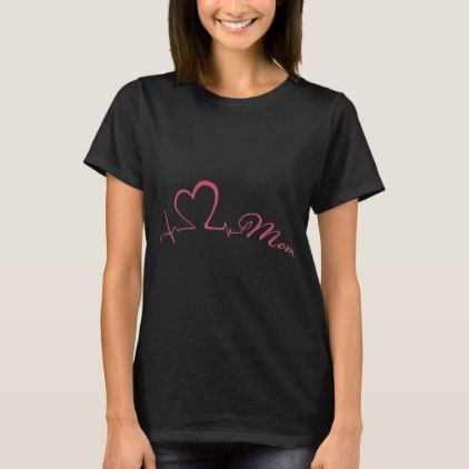6a9bd75c love mom heartbeat daughter t-shirts - toddler youngster infant child kid  gift idea design diy