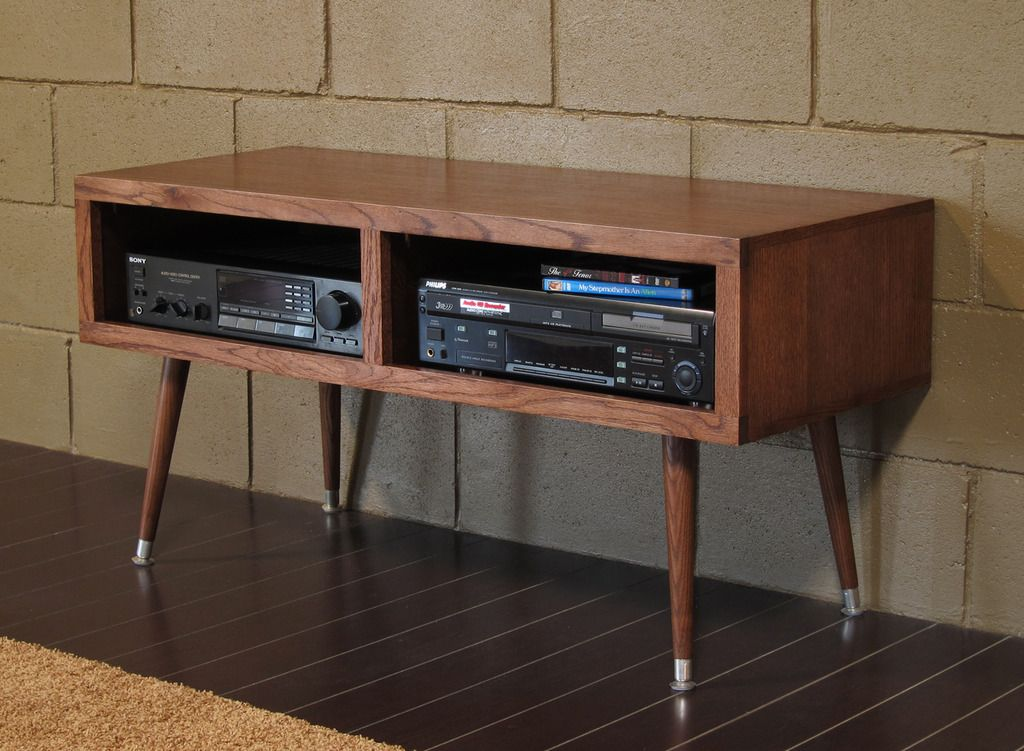 Pictures Of Mayan Double Bay Mocha Mid Century Modern Tv Stand Console