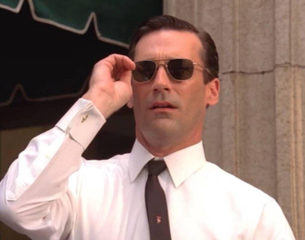890543a729 Madmen. Randolph Engineering Sunglasses. Don Draper knew how to dress!