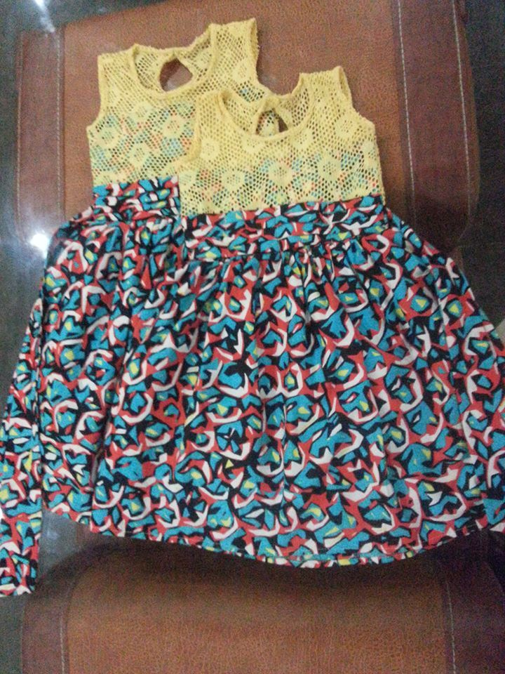 Lace And Ankara Dress For Girls African Kids Fashion