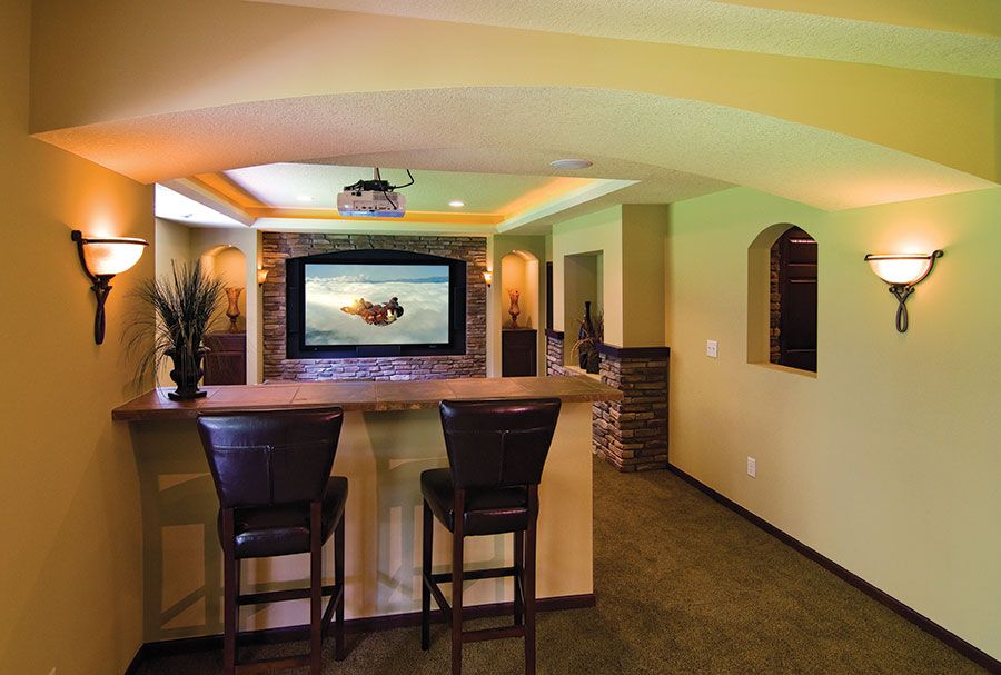 Basement home theater ideas DIY small spaces