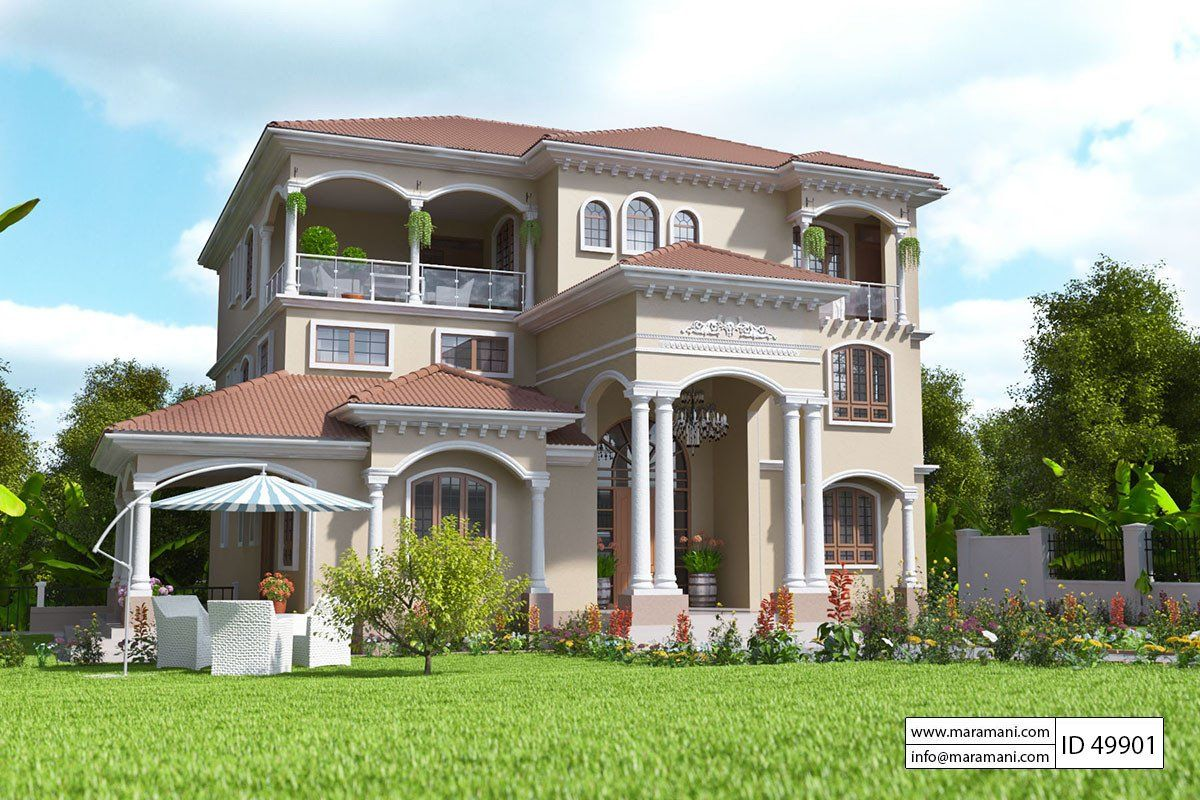 9 Bedroom House Design Id 49901 House Designs By Maramani House Design Simple House Plans House Plans