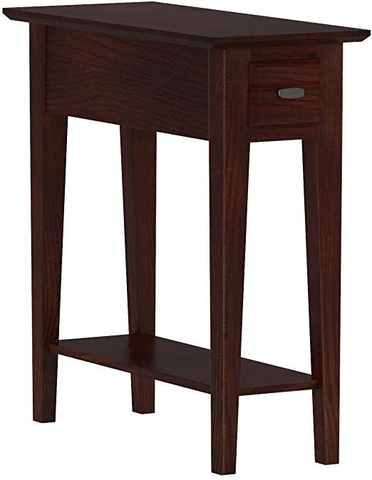 Leick Chairside End Table Narrow Recliner Side Table Solid Wood 10 Inch Wide Hand Applied Cherry Finish In 2020 End Tables Modern Accent Tables Living Table