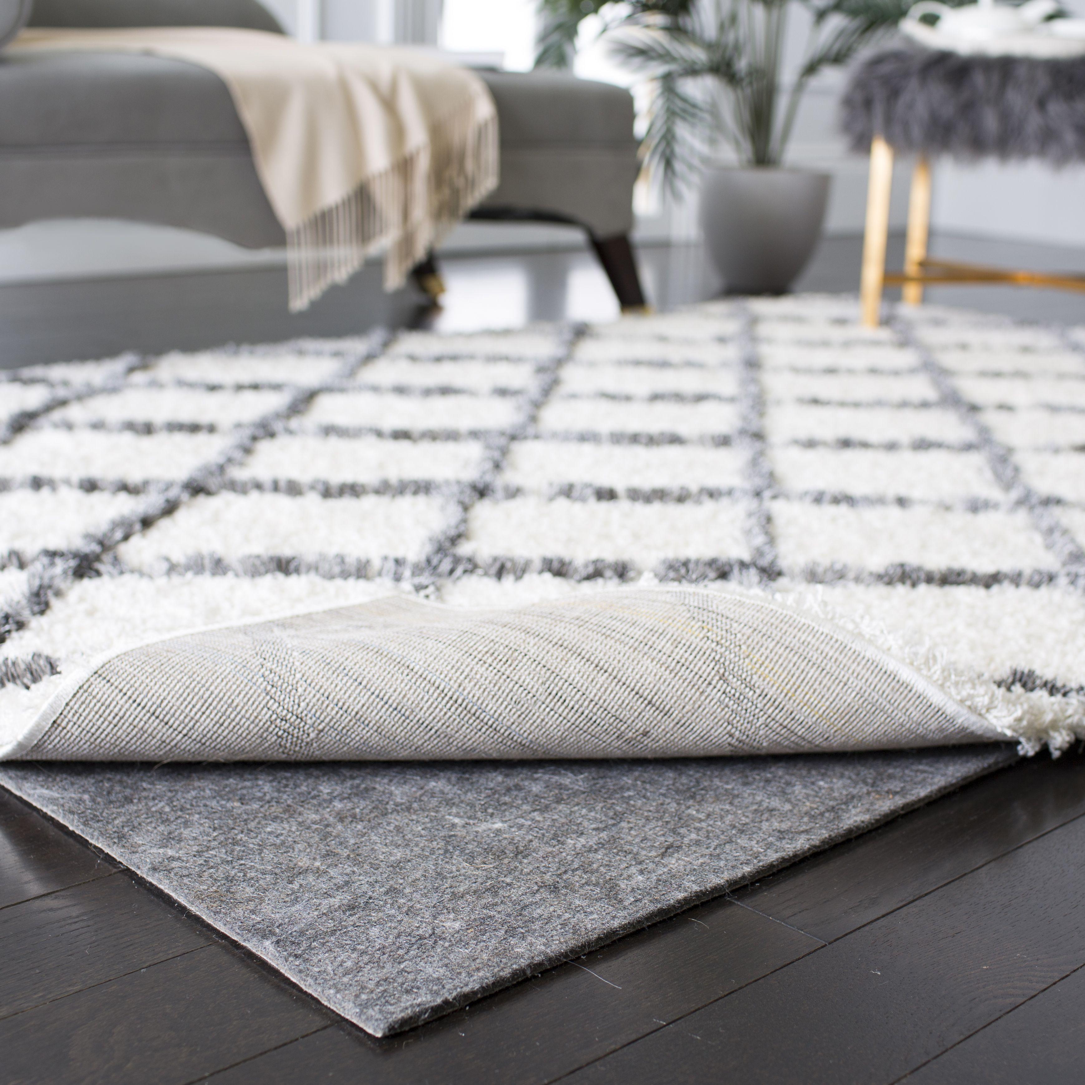 Safavieh Premium Dura Rug Pad For Hard Floor And Carpet Walmart Com Rugs On Carpet Rug Pad Solid Rugs