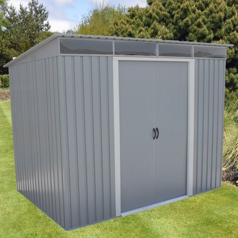 8 5 Ft W X 6 Ft D Metal Storage Shed Metal Storage Sheds Building A Shed Shed