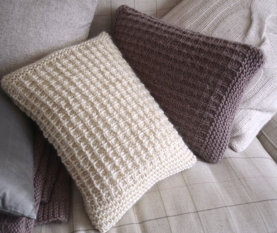 Free Knitting Pattern For A Textured Scatter Cushion Knitting
