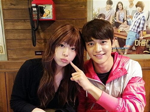 They look so cute together!!  To the Beautiful You