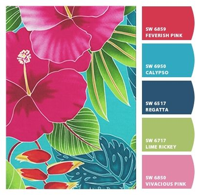 I Just Spotted The Perfect Colors Tropical Colors Hawaiian Fabric Tropical