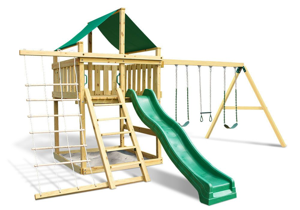 Eclipse Fort With Swing Set Diy Hardware Kit Plans Swing Set Diy Play Houses Swing Set Kits