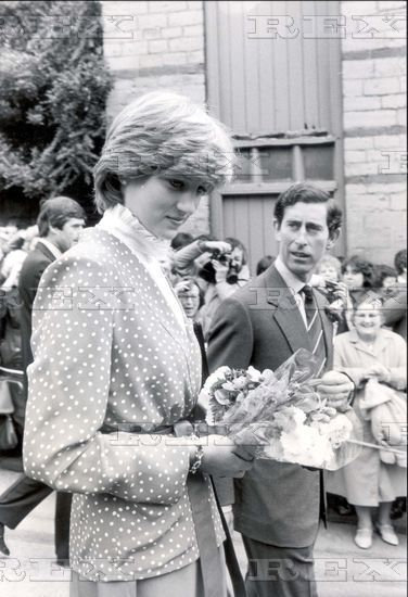 May 22, 1981: Lady Diana Spencer during the visit to Tetbury, Gloucestershire.