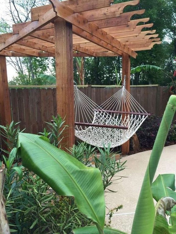 Gorgeous 32 Awesome Backyard Hammock Ideas For Relaxation Backyard Hammock Pergola Backyard Diy Projects
