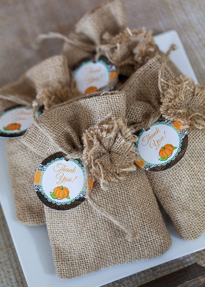rustic fall little pumpkin baby shower party ideas printable thank you favor tags