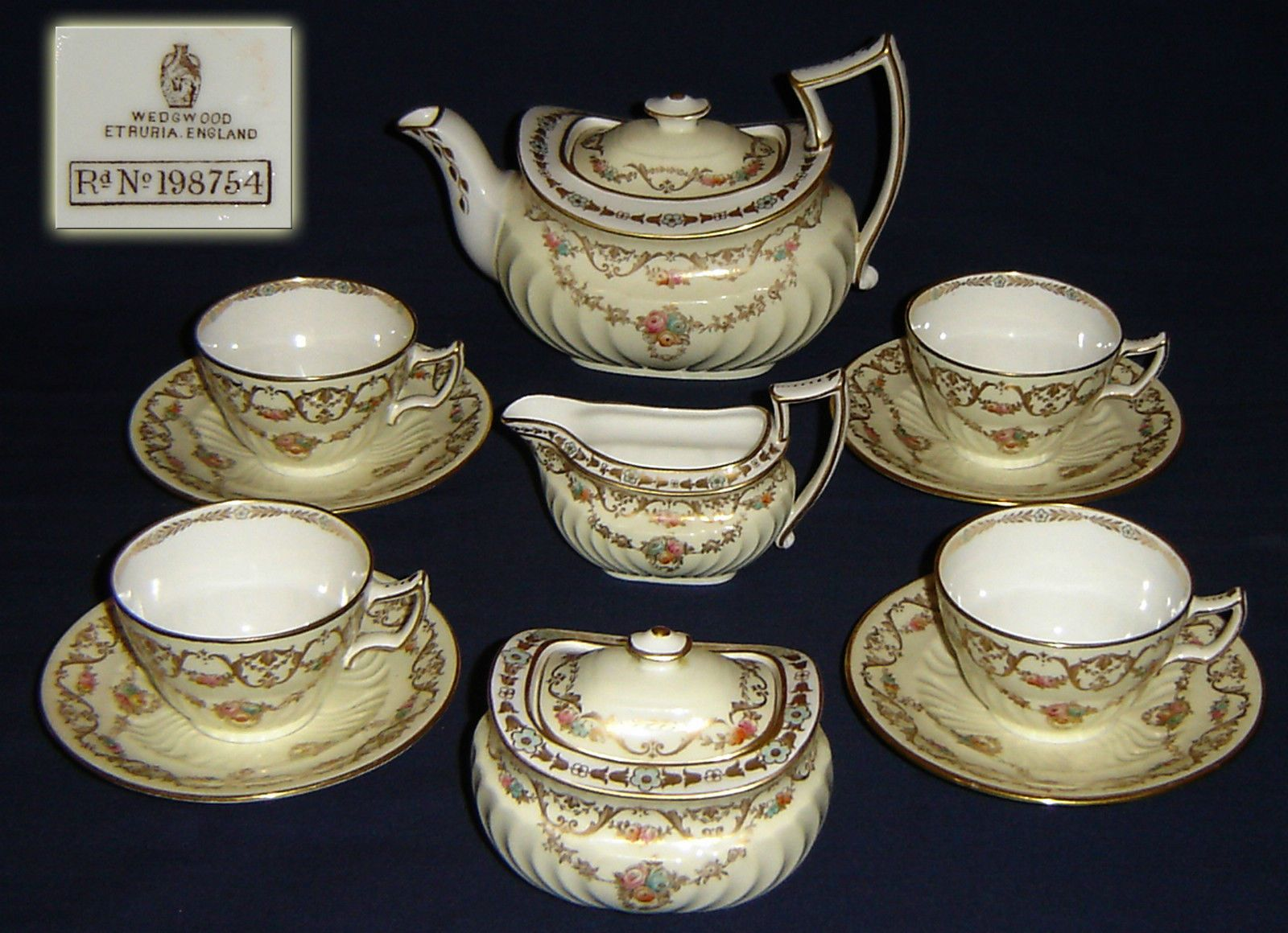 Rare Antique Victorian Wedgwood Tea Set