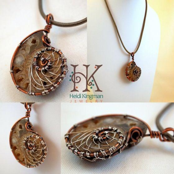 Ammonite necklace by heidi kingman jewelry ammonite jewellery ammonite necklace by heidi kingman jewelry aloadofball Image collections