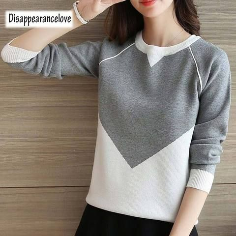 ece9446f98e DRL Winter Pull Sweaters Women 2018 Fashion Loose Jumpers Korean Pullovers  Knitting Pullovers Thick Christmas Sweater